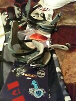 Snow board , boots, bindings, bag