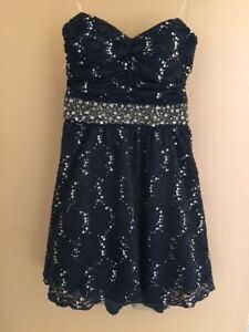 Navy Dress by My Michelle - Size 5/Small