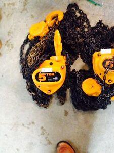Kito 5 ton chain hoist.Like new. $160.00