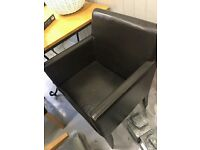 brown leather chair / comfy armchair / cheap work chair / office / dining chair