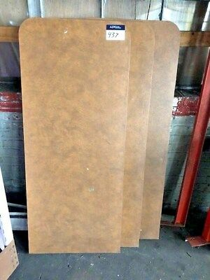 Used 24 X 57 Laminate Formica Brown Leather Restaurant Table Top