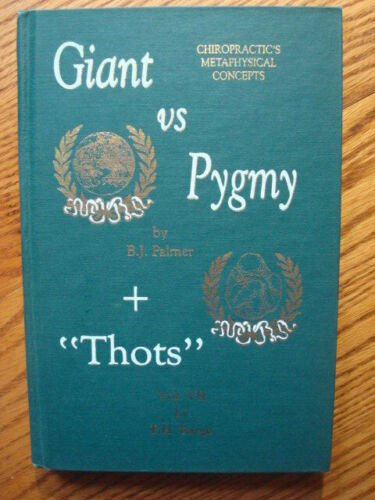 FRED BARGE GIANT VS PYGMY CHIROPRACTIC BOOK SIGNED