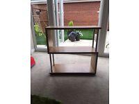 Wooden / Chrome TV Unit