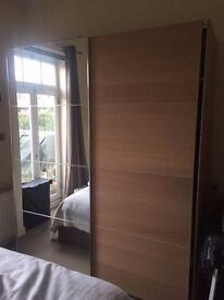 PAX Wardrobe sliding doors with mirror, large