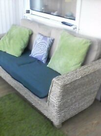 Excellent condition, 3 seater Rattan Sofa