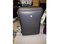 Two Grey Domo Suitcases
