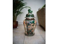 Large Chinese lidded vase (temple ?), 68cm high, no idea of age but no chips or cracks