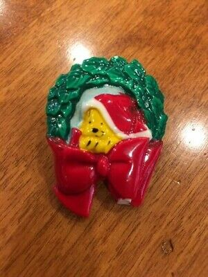Disney Winnie the Pooh Vintage Holiday Christmas Pin 1983