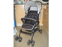 Pushchair/Stroller, Hauck Sport, black, suitable from birth, folds small