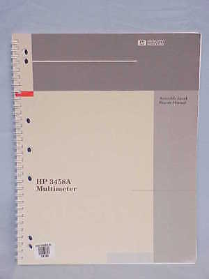 Hp 3458a Multimeter Assembly Level Repair Manual