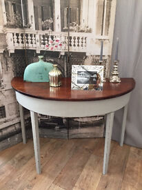 """Shabby chic """"Paris Grey"""" side table by Eclectivo"""