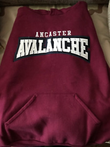 --ANCASTER AVALANCHE HOODY.SIZE YOUTH LARGE.OBO.