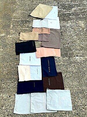Lot 20 Designer Shoe Boot Dust Bag Dust Cover Storage GUCCI BOTTEGA VENETA PRADA