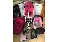 Quinny Moodd Pink Passion Full Travel System RPP Ł1000