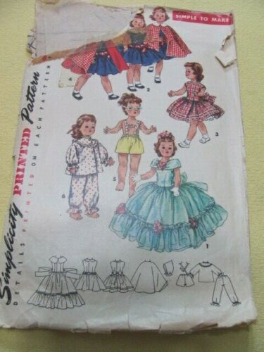 4 vintage doll clothes patterns Toni Walker Revlon Sweet Sue Sophisticate Ken