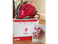 Specialized Small Fry Child cycle /scooter helmet. Red, white & Black. Adjustable. Aimed at age 3-7