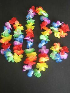 Hawaiian-Set-Hula-Flower-Garland-Lei-Set-Iuau-Hula-Party-Fancy-Dress-Grass-Skirt