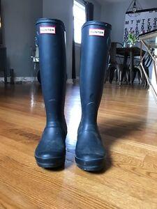 As New Tall Hunter Rain Boots - Size 5 US