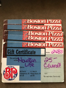 BOSTON PIZZA GIFT CARDS