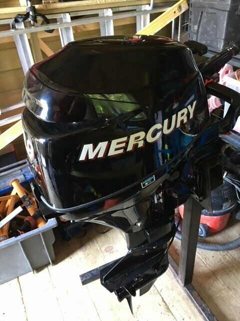 Outboard Motor  Mercury 9 9 HP, 4 Stroke, Short Shaft, Tiller Control  Less  than 30 hours! | in Staffordshire | Gumtree