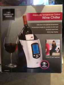 The Sharper Image- Adjustable Temperature WINE CHILLER