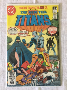 THE NEW TEEN TITANS #2 comic book - 1st appear. of DEATHSTROKE !