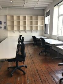 DESK SPACE FROM £295 PM ALL INCLUSIVE CLERKENWELL WAREHOUSE - DESIGN STUDIO