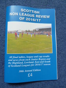 Scottish Non League Review of 2016/17, football, scottish junior, 30th edition