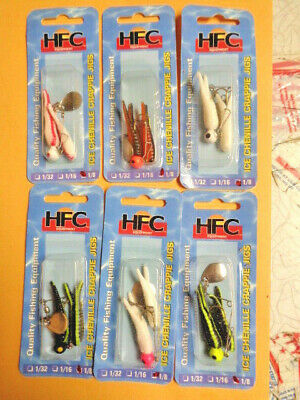 """100 NEW #1 NICKEL BEETLE SPIN SPINNERS /& 2/"""" Crappie Curl Tail Jig NON-LEAD1//16oz"""