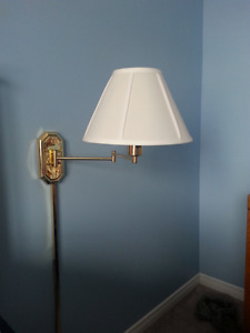Extendable Brass Finish Tri-Light Wall Sconces (2)