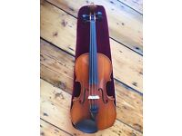 High quality workshop-made 3/4 size violin in fantastic condition, plus bow and light-weight case.