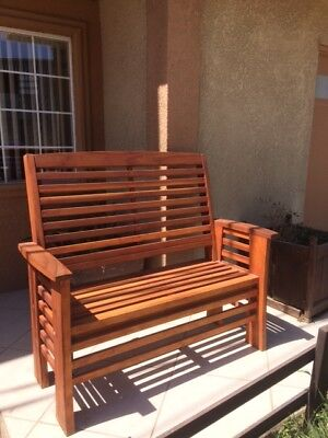 Best Redwood 4 ft. Garden Bench with attached