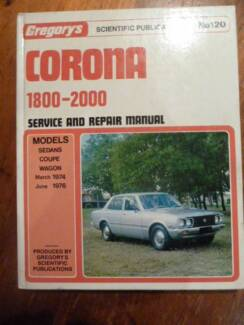 Toyota Corona******2000 Service And Repair Manual******1976 Ferntree Gully Knox Area Preview