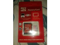 BRAND NEW UPGRADED 128GB MICRO SD MEMORY CARD WITH ADAPTOR