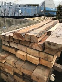 OAK SLEEPERS 2.4M X 100MM X 200MM
