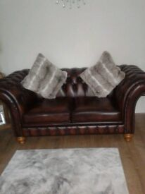 3 months old chesterfield 2 x 2 seater