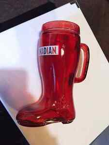 I Am Canadian red glass boot Kitchener / Waterloo Kitchener Area image 1
