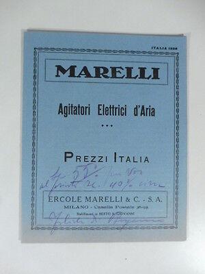 Marelli agitatori elettrici d'aria. Prezzi Italia. Pieghevole pubblicitario