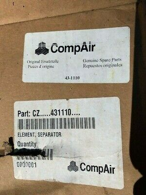 Compair 43-1110 Air-oil Filter Separator Element For Use On Leroi Compressors