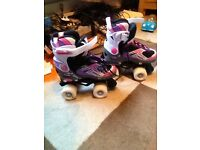 Girls adjustable roller skates size 11 to size 1