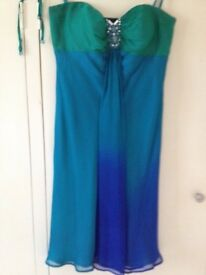 Beautiful Debut green/blue dress Size 10