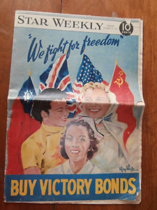 1942 Star Weekly-We Fight For Freedom-Buy Victory Bonds