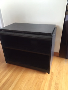 ***Black TV stand with swivel top & More***