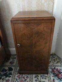 Walnut Veneer bedside cabinet table