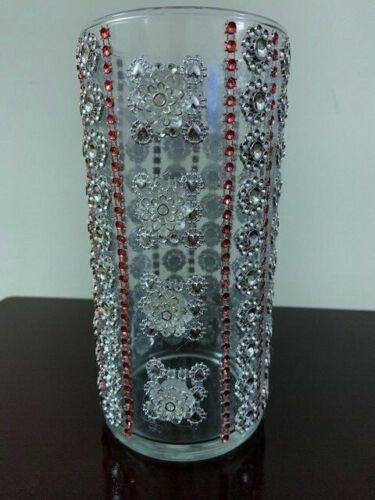 Bling Hand Decorated Beautiful Vase