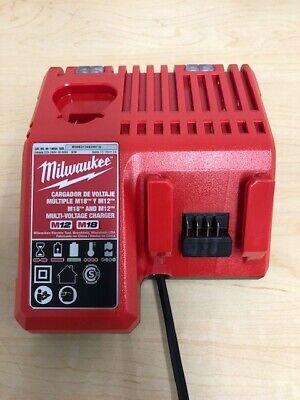 MILWAUKEE M12 M18 12V 18V BATTERY CHARGER AC 220V TYPE I PLUG 48-1959A 220v Battery Charger