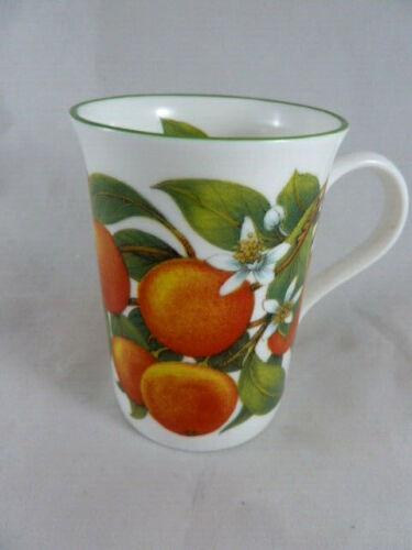 Crown Trent Staffordshire England Coffee Mug Fine Bone China Orange blossom