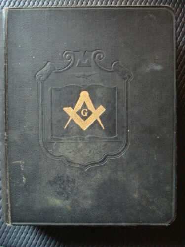 1925 MASONIC HOLY BIBLE  A.J. HOLMAN & REFERENCE DICTIONARY INDEX
