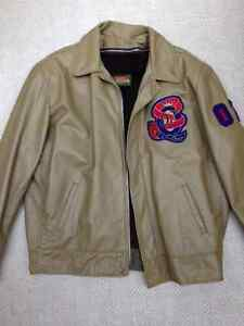 Queen's Vintage Leather Engineering Jacket, mint condition Kingston Kingston Area image 1