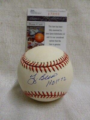 Yogi Berra Signed HOF 72 New York Yankees AL Gene Budig Baseball JSA J73093